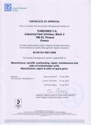 Lloyd-s Register CertificateSmall
